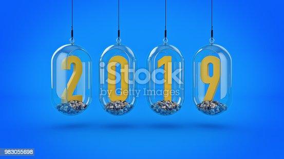 istock New Year 2019. 3D Rendering 983055698