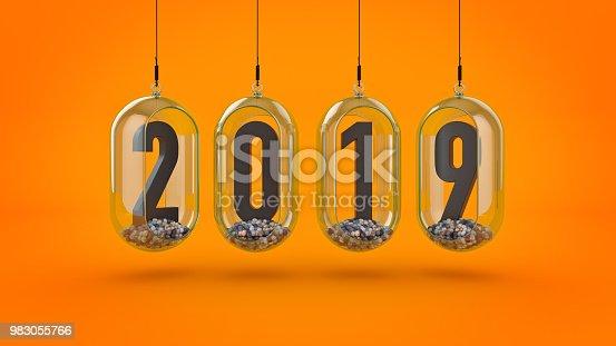 istock New Year 2019. 3D Rendering 983055766