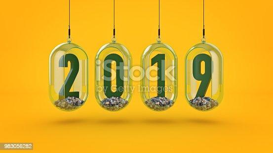 istock New Year 2019. 3D Rendering 983056282