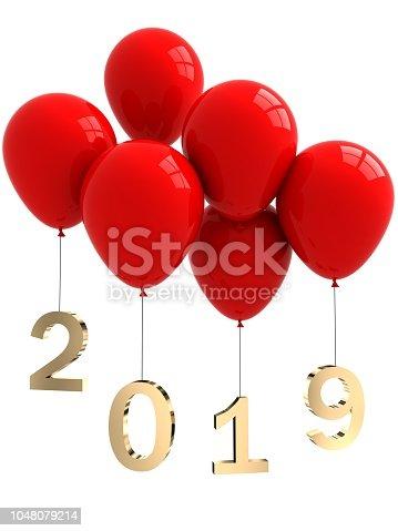 New year 2019 balloons
