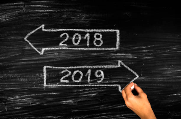 New Year 2019 Beginning New Year 2019 Beginning 2018 stock pictures, royalty-free photos & images