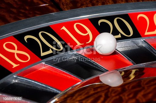 istock New Year 2019 casino roulette wheel lucky red sector eighteen 19 1055913252