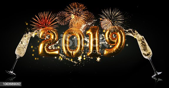 istock New Year 2019 celebration concept 1063689052