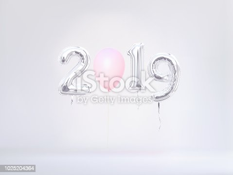 1029792184istockphoto New year 2019 celebration in pastel colors. 1025204364