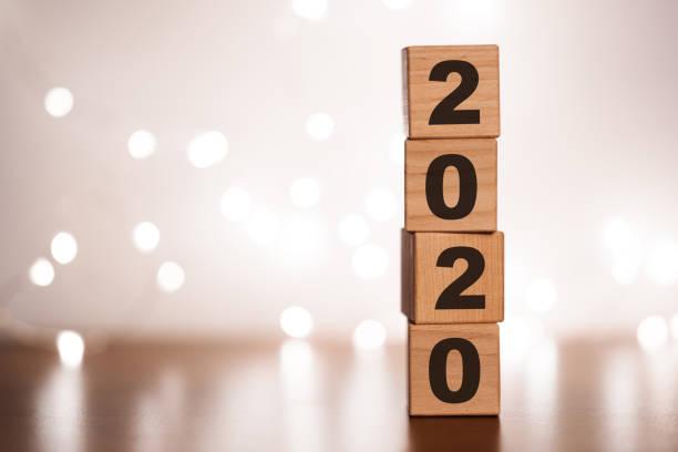 Cambiar de año 2019 2020 concepto - foto de stock