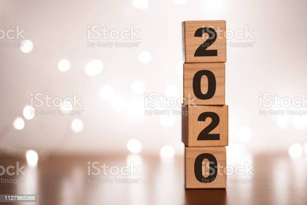 New year 2019 change to 2020 concept