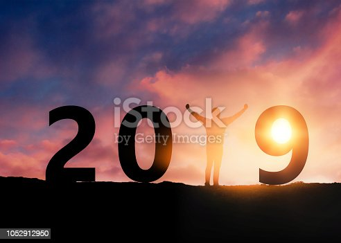 945046208 istock photo New year 2019 concept 1052912950