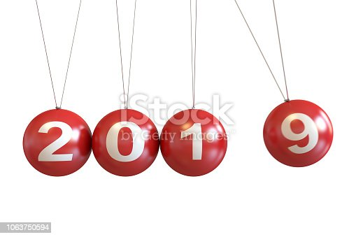 istock New Year 2019 Concept With Christmas Balls 1063750594