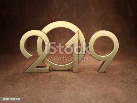 968131582 istock photo New Year 2019 Creative Design Concept 1004786330