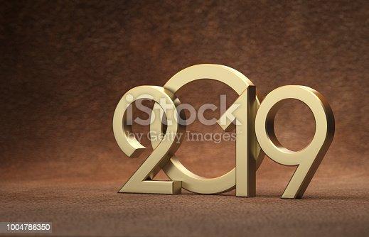 968131582 istock photo New Year 2019 Creative Design Concept 1004786350