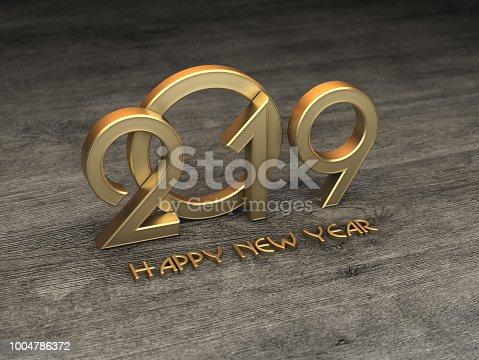 968131582 istock photo New Year 2019 Creative Design Concept 1004786372