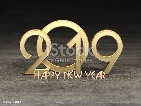 968131582 istock photo New Year 2019 Creative Design Concept 1004786380
