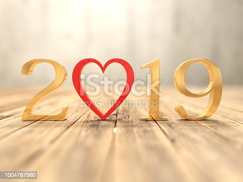 istock New Year 2019 Creative Design Concept 1004787560