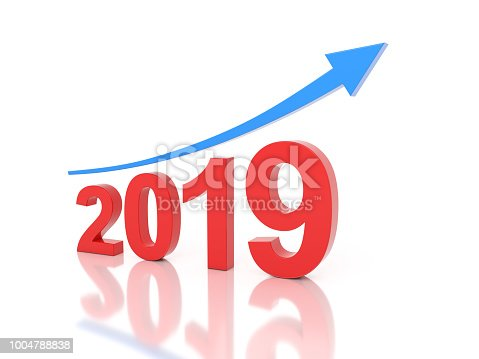 1004788900 istock photo New Year 2019 Creative Design Concept 1004788838