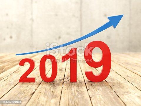 1004788900 istock photo New Year 2019 Creative Design Concept 1004788860