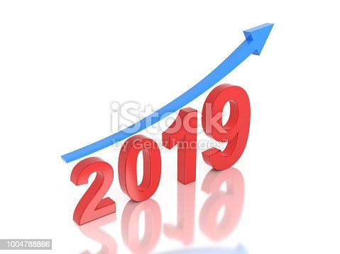 1004788900 istock photo New Year 2019 Creative Design Concept 1004788866