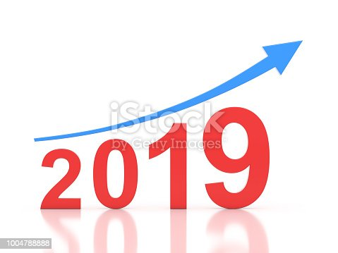 1004788900 istock photo New Year 2019 Creative Design Concept 1004788888