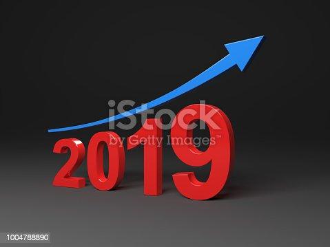 1004788900 istock photo New Year 2019 Creative Design Concept 1004788890