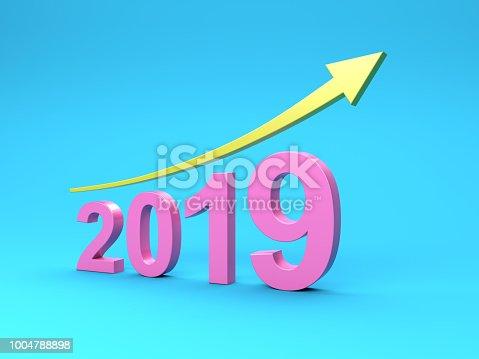 1004788900 istock photo New Year 2019 Creative Design Concept 1004788898