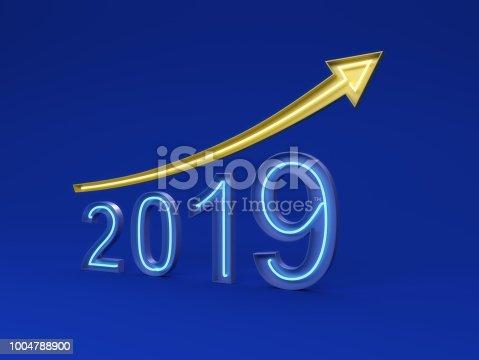 istock New Year 2019 Creative Design Concept 1004788900