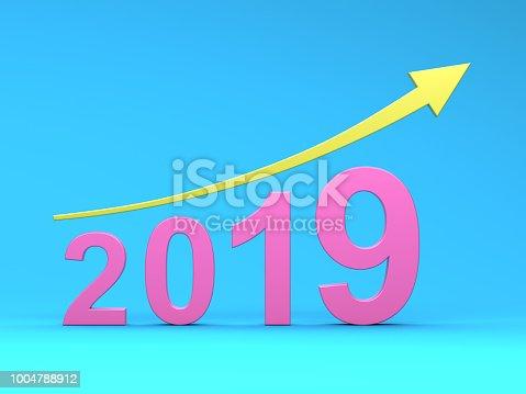 1004788900 istock photo New Year 2019 Creative Design Concept 1004788912