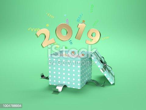 istock New Year 2019 Creative Design Concept 1004788934