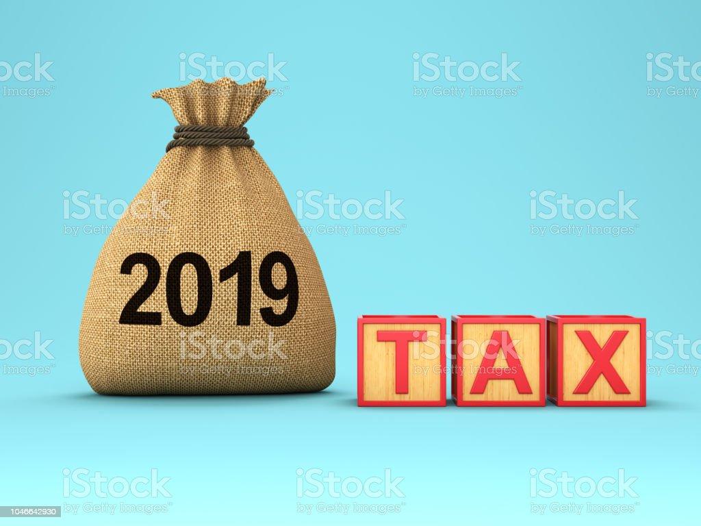 New Year 2019 Creative Design Concept - Foto stock royalty-free di 2019