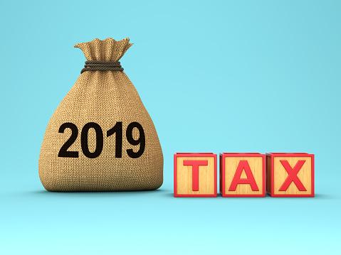 New Year 2019 Creative Design Concept - Fotografie stock e altre immagini di 2019