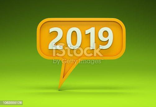 istock New Year 2019 Creative Design Concept 1063555126