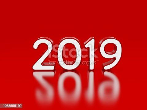istock New Year 2019 Creative Design Concept 1063555192