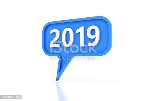 istock New Year 2019 Creative Design Concept 1063566162