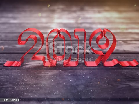 istock New Year 2019 Creative Design Concept 968131500