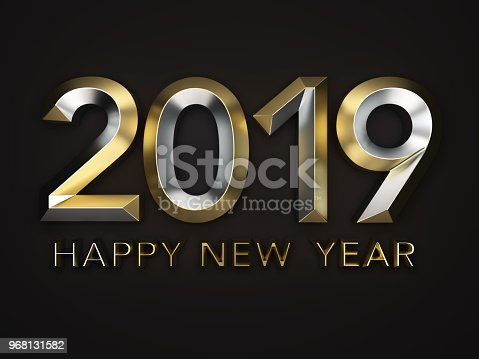 istock New Year 2019 Creative Design Concept 968131582