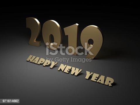 968131582 istock photo New Year 2019 Creative Design Concept 971614662