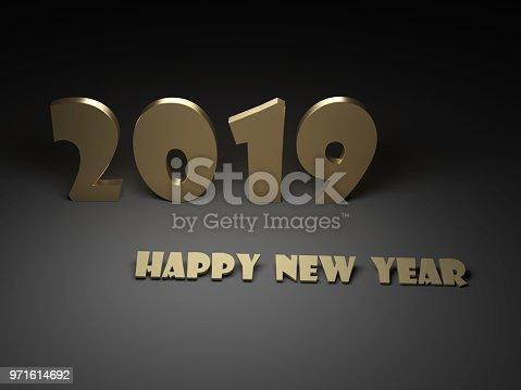 968131582 istock photo New Year 2019 Creative Design Concept 971614692