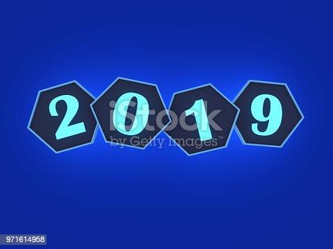 istock New Year 2019 Creative Design Concept 971614958