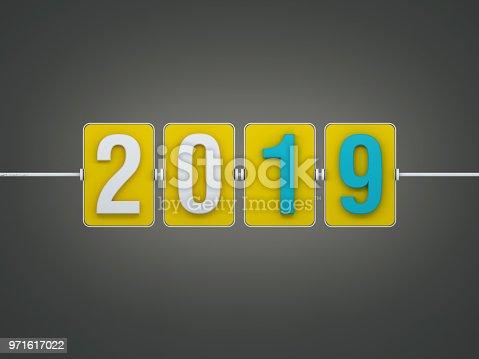 istock New Year 2019 Creative Design Concept 971617022
