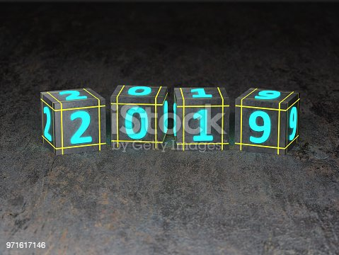 istock New Year 2019 Creative Design Concept 971617146