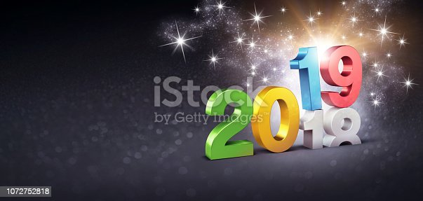 istock New Year 2019 festive symbol for Greeting Card 1072752818