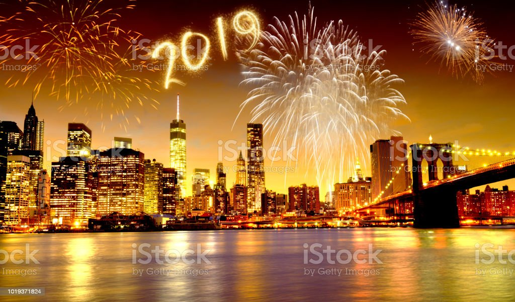 New Year 2019 Fireworks Celebrations In New York City