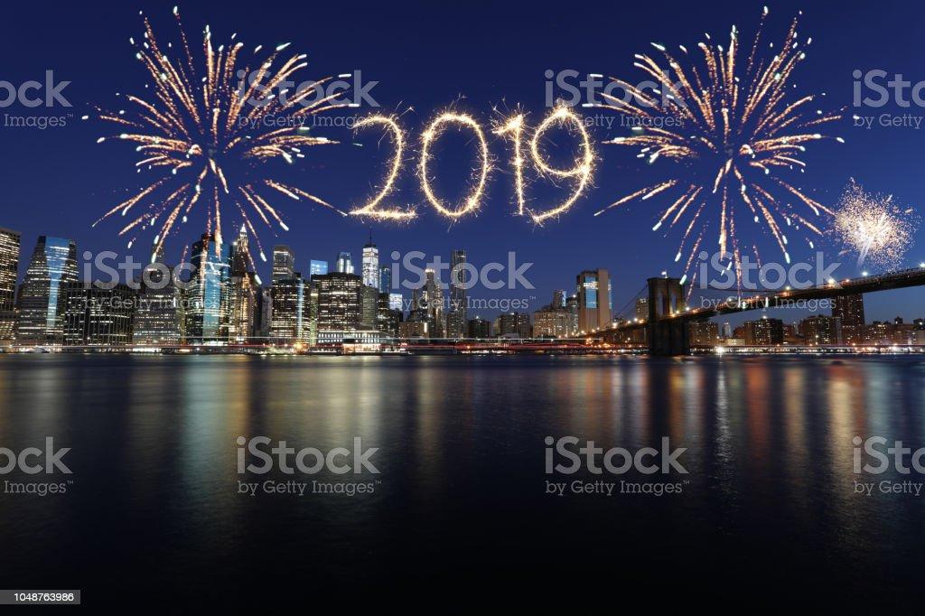 Neue Jahr 2019 Feuerwerk – Foto