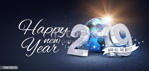 istock New Year 2019 Greeting card for the best 1068268232
