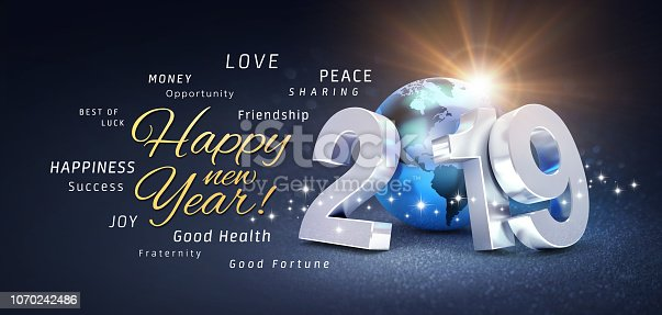 istock New Year 2019 Greeting card wishing the best 1070242486