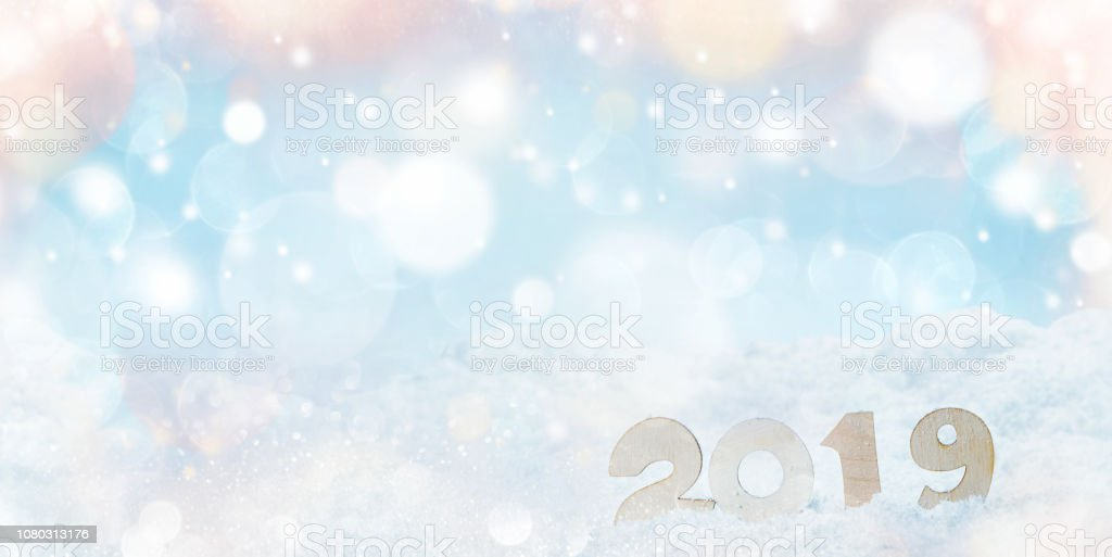 New year 2019 holiday stock photo