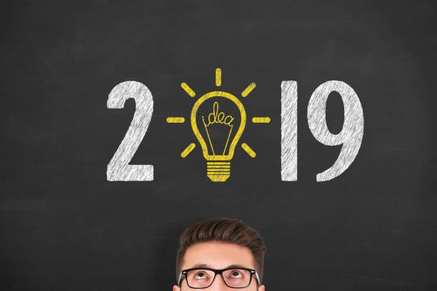 New Year 2019 Idea Concepts stock photo