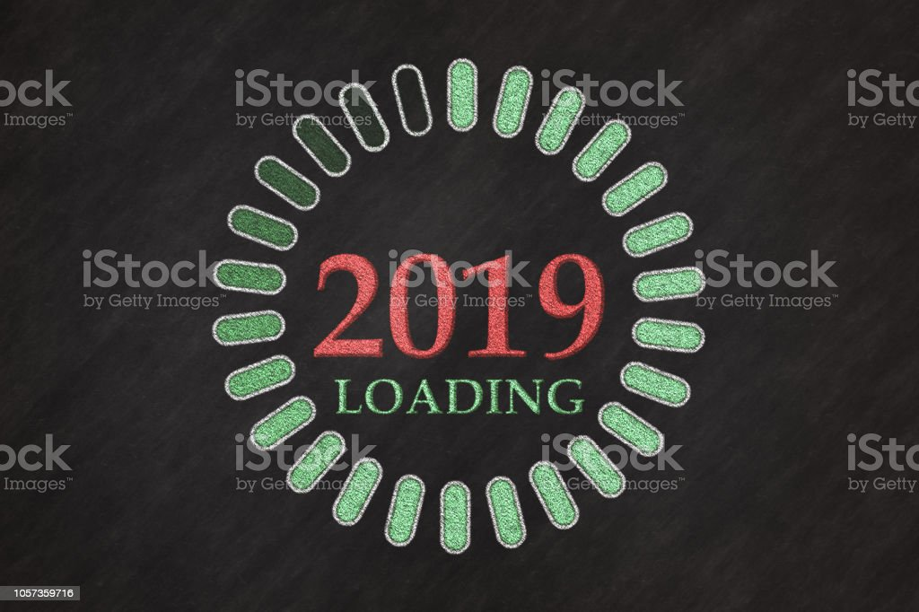 New Year 2019 Loading stock photo