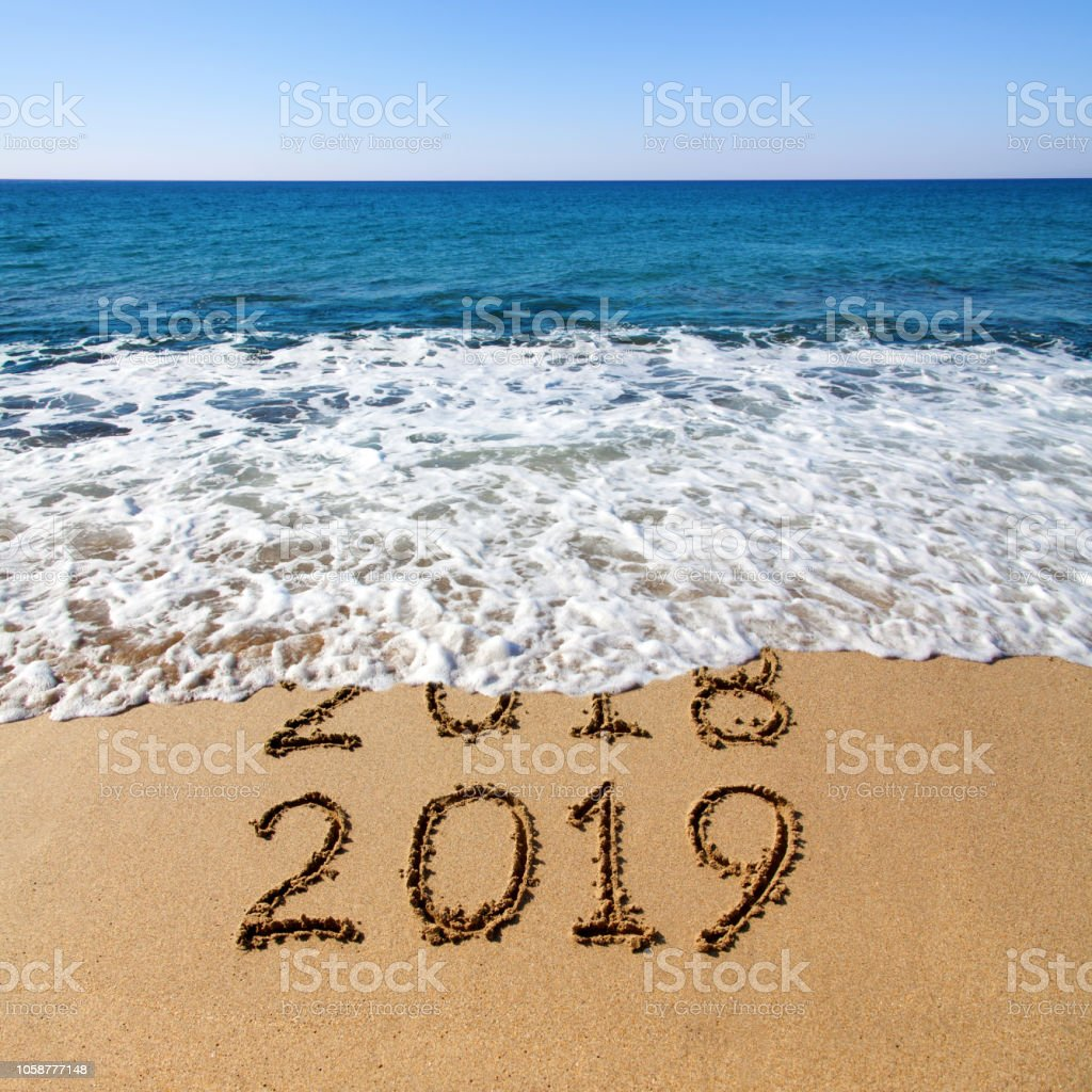 New year 2019 stock photo