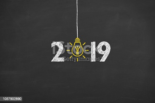 1069595584 istock photo New Year 2019 Recruitment Concepts on Blackboard Background 1057902890