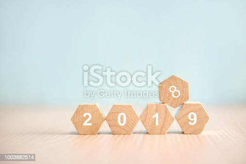 istock New year 2019 replace 2018 on woodblock 1003682514