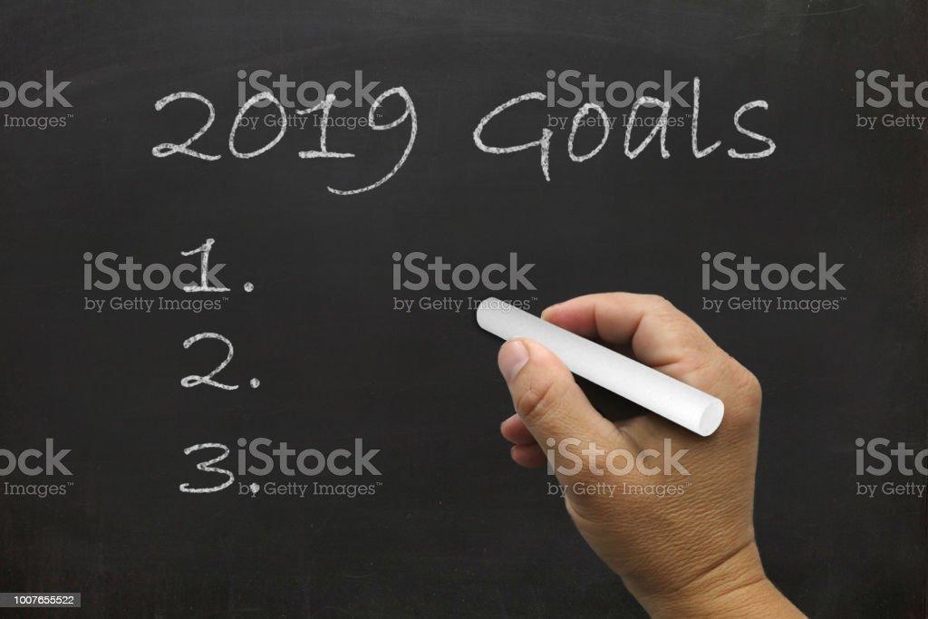 Neue Jahr 2019 Resolutionen Ziel Tafel – Foto